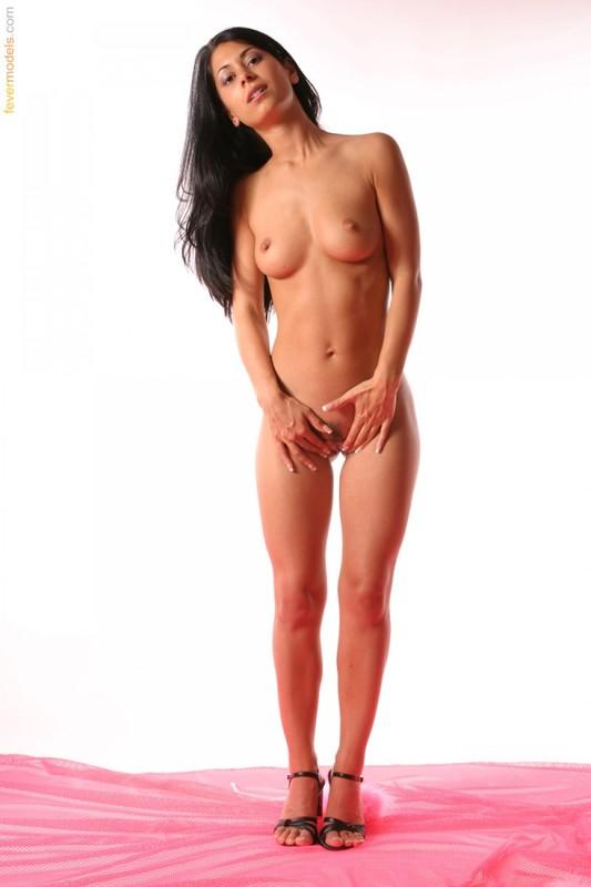 Шатенка обнажилась с мехом, чтобы хвастать жопой и вагиной